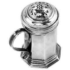 Antique George I Sterling Silver Pepper Shaker / Caster 1722