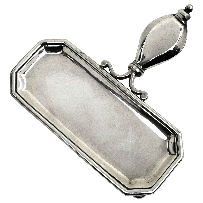 Antique George I Sterling Silver Snuffer Tray 1721 Georgian Pen Trinket Pin Tray