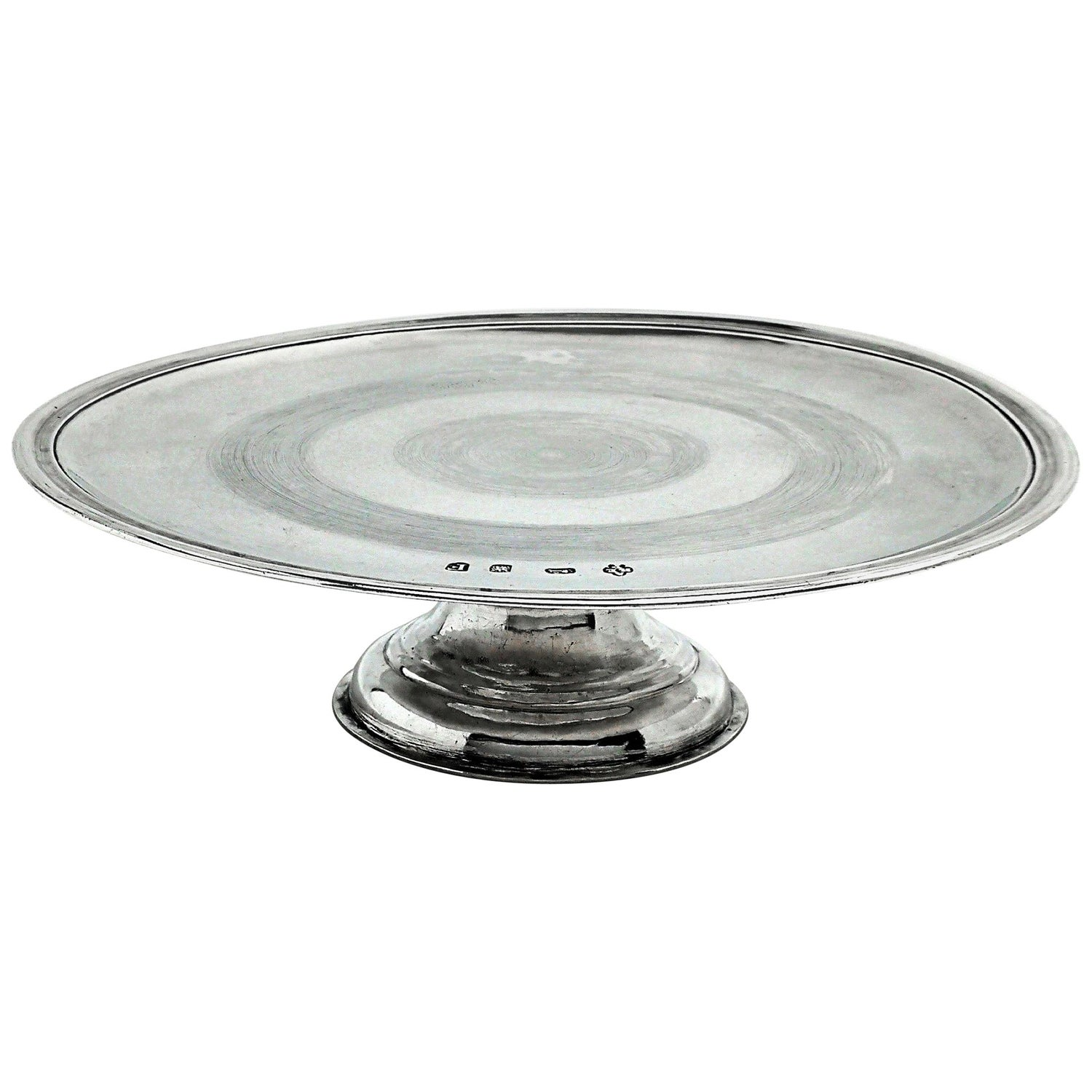 Antique George I Sterling Silver Tazza / Plate 1721 Early Georgian, 18th Century