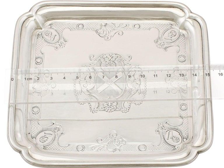 Antique George II Britannia Standard Silver Salvers For Sale 7