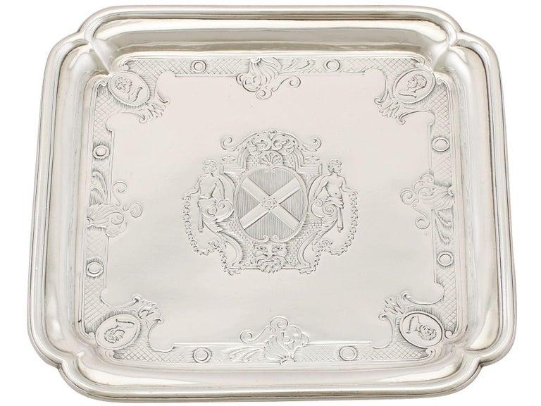 British Antique George II Britannia Standard Silver Salvers For Sale