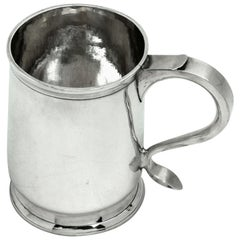 Antique George II Georgian Silver Christening Mug, 1729