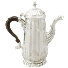 Antique George II Sterling Silver Coffee Pot