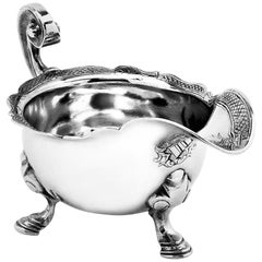 Antique George II Sterling Silver Cream Jug / Milk Jug 1734