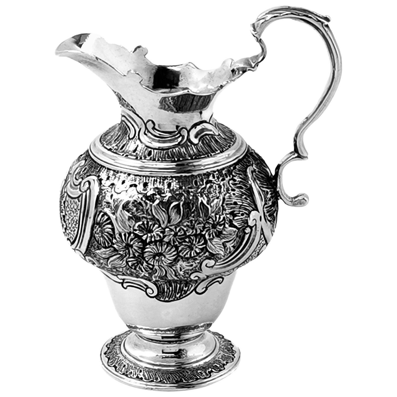 Antique George II Sterling Silver Cream Jug / Milk Jug c 1750 18th Century