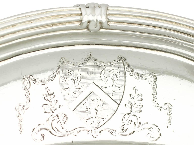 Mid-18th Century Antique George II Sterling Silver Serving Dish For Sale