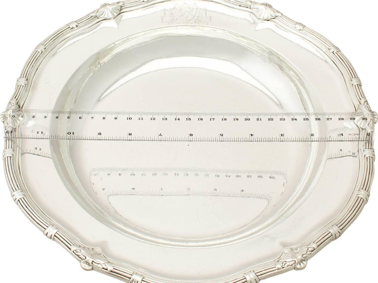 Antique George II Sterling Silver Serving Dish For Sale 4