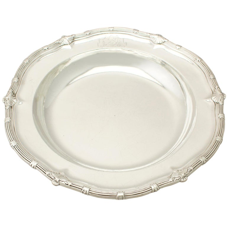 Antique George II Sterling Silver Serving Dish For Sale