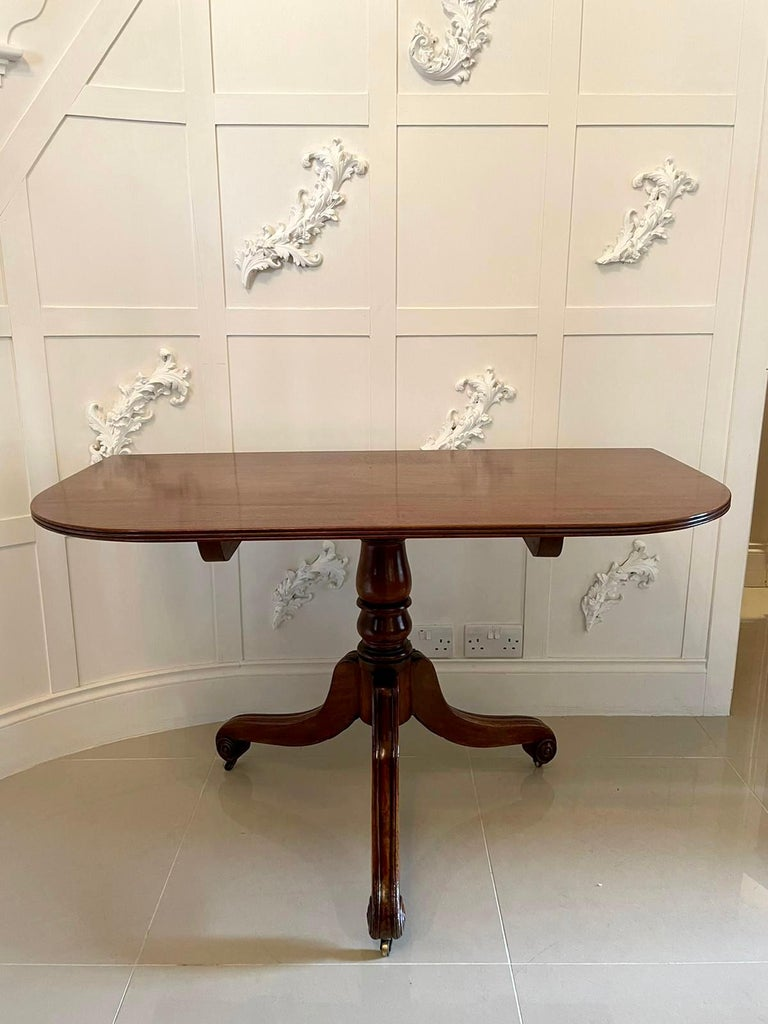 Antique George III Antique Mahogany Twin Pedestal Dining Table For Sale 2