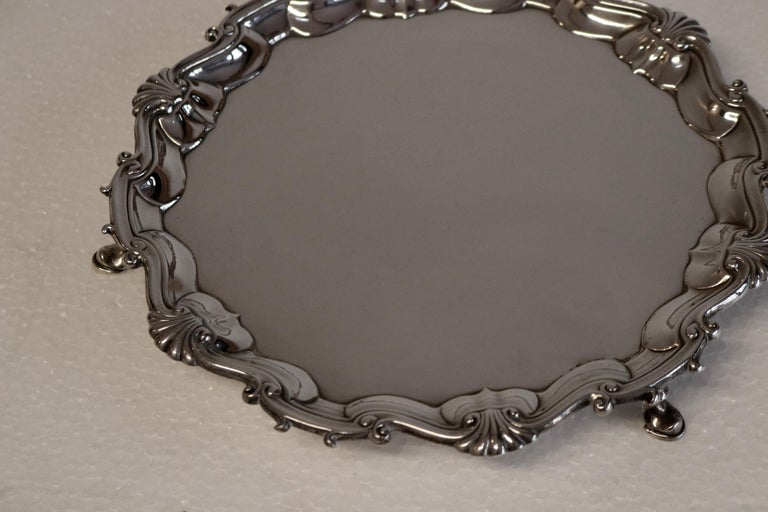 Antique George III Fine Silver Salver Waiter, Horry Family In Good Condition For Sale In Glencarse, Perthshire