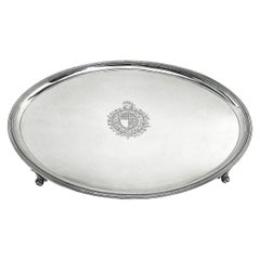 Antique George III Georgian Silver Tray / Salver / Serving Platter 1788