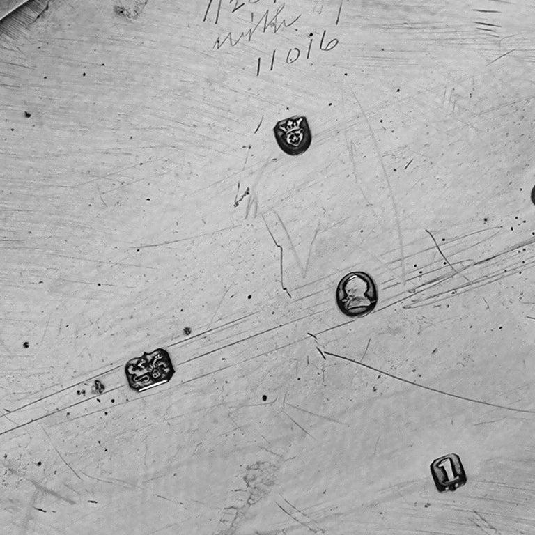 Antique George III Georgian Sterling Silver Tea Caddy Box 1786 Oval 3