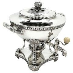 Antique George III Georgian Sterling Silver Tea Urn / Samovar, 1808