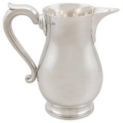 Antique George III Irish Sterling Silver Beer / Water Jug, 1794
