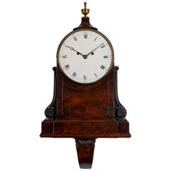 Antique George III Mahogany Architectural Clock by John Grant of London