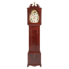 Antique George III Mahogany Inlaid Eight Day Grandfather Clock Antique George I