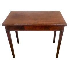 Antique George III Mahogany Inlaid Tea Table