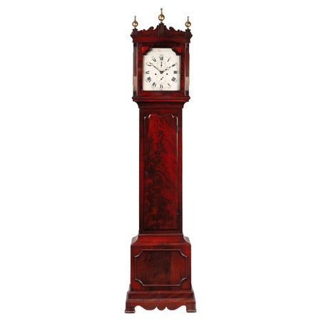Antique George III Mahogany Longcase Clock by Samuel Hunter of Islington London