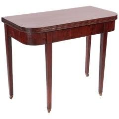 Antique George III Mahogany Tea Table
