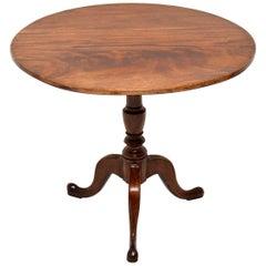 Antique George III Mahogany Tilt-Top Table