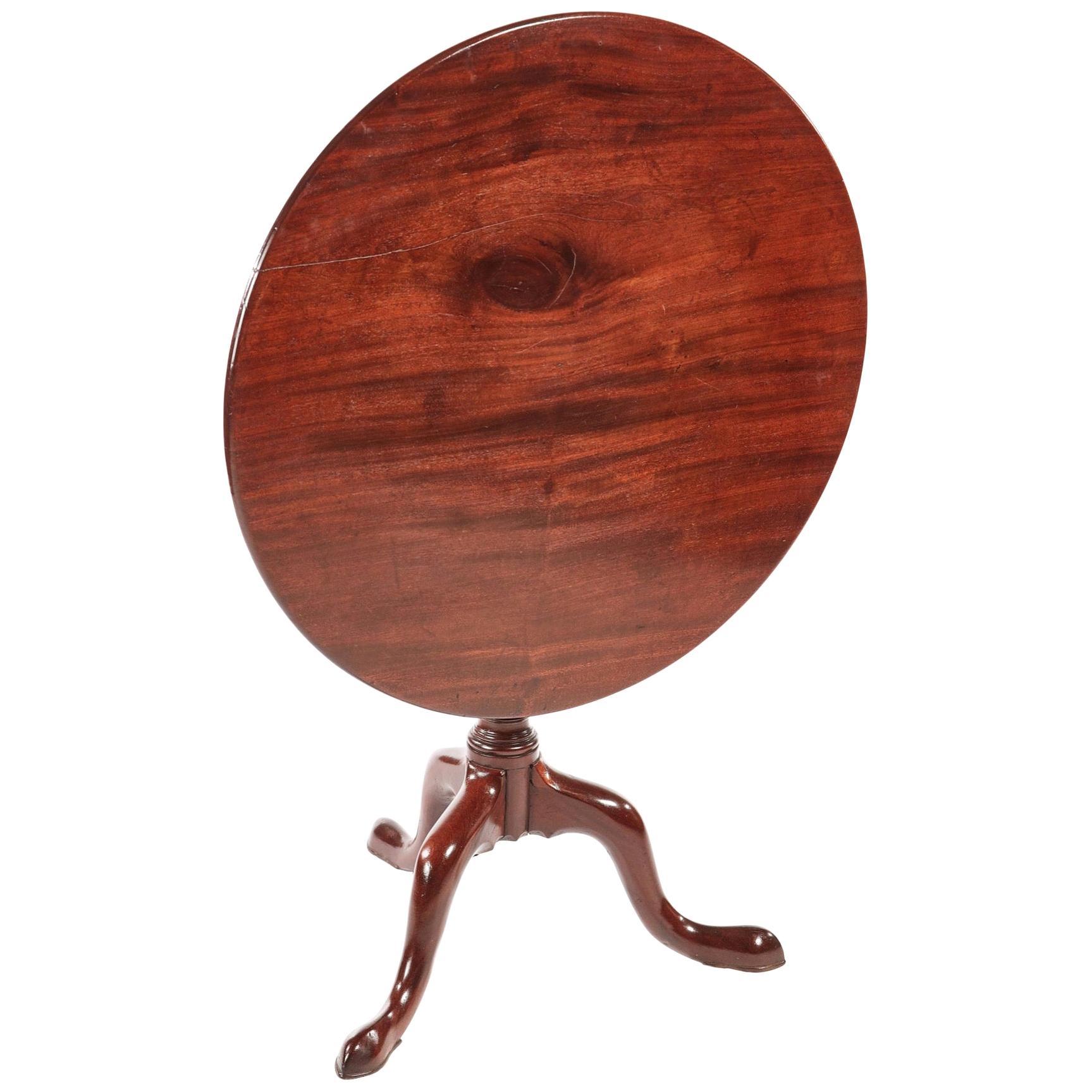 Antique George III Mahogany Tripod Table