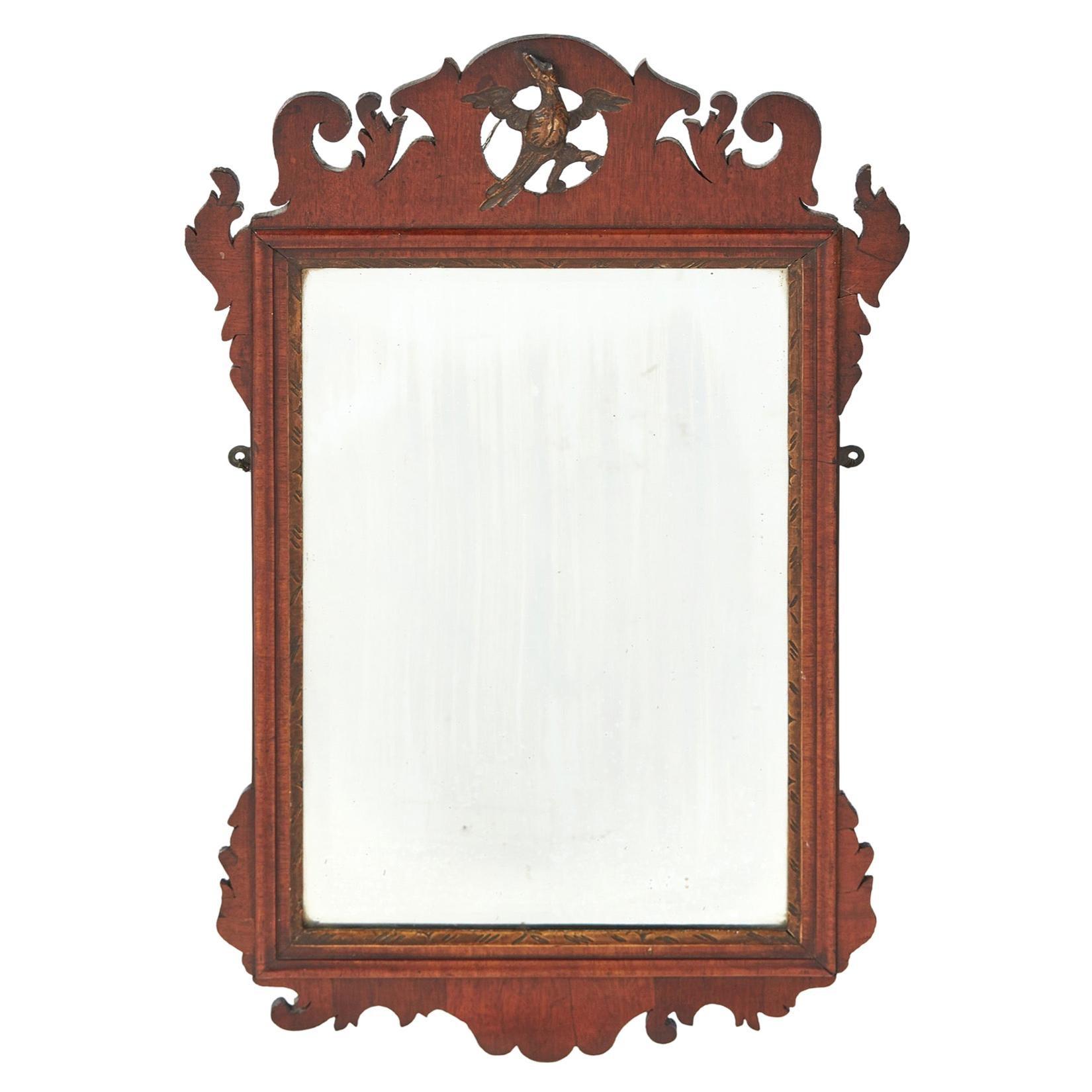 Antique George III Mahogany Wall Mirror