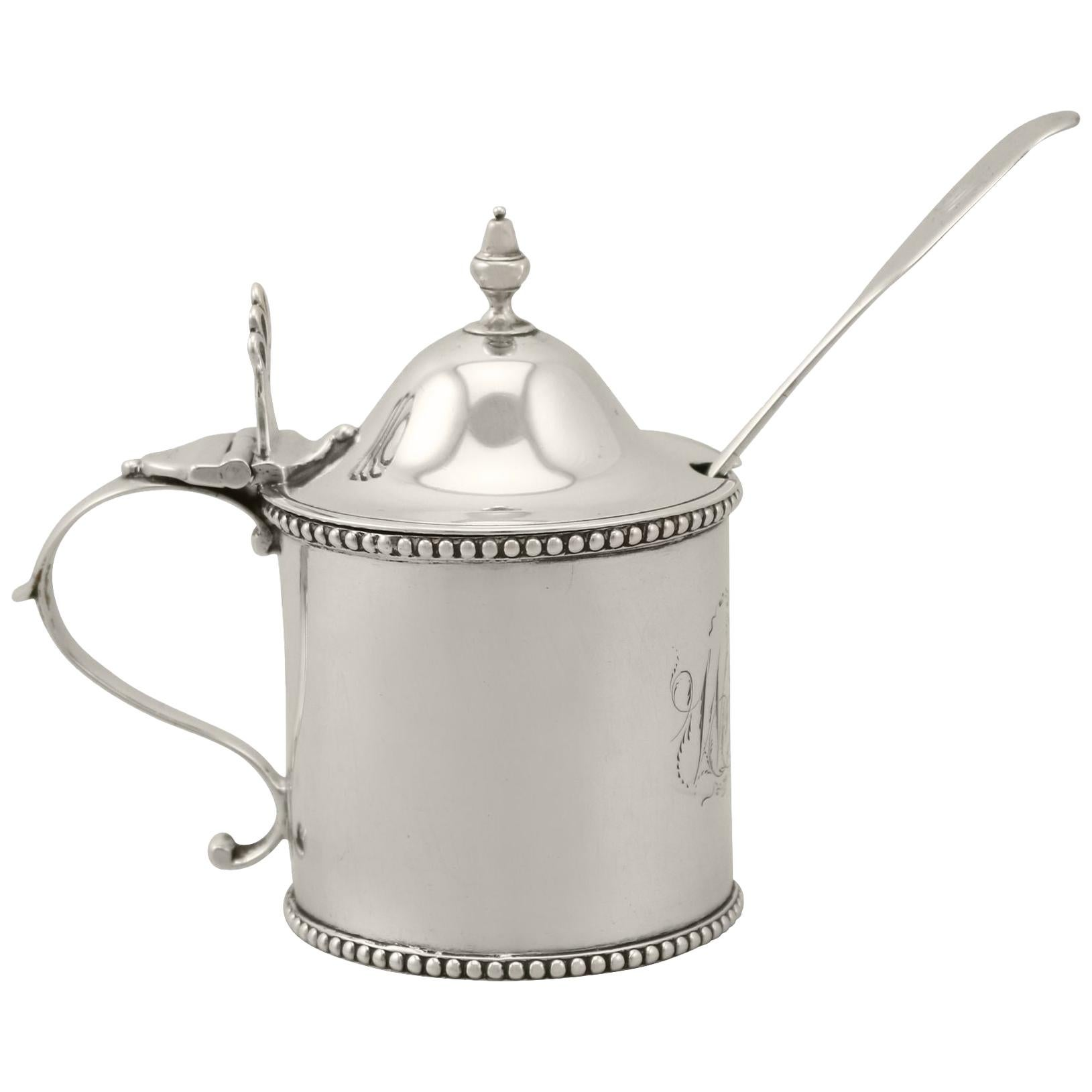 Antique George III Newcastle Sterling Silver Mustard Pot