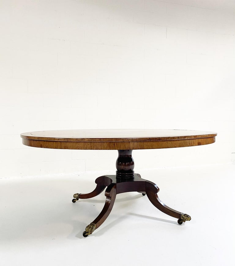 Antique George III Oval Rosewood Dining Table For Sale 5