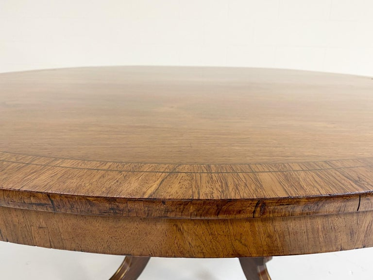 English Antique George III Oval Rosewood Dining Table For Sale