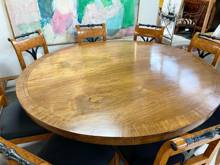 Antique George III Oval Rosewood Dining Table For Sale 2