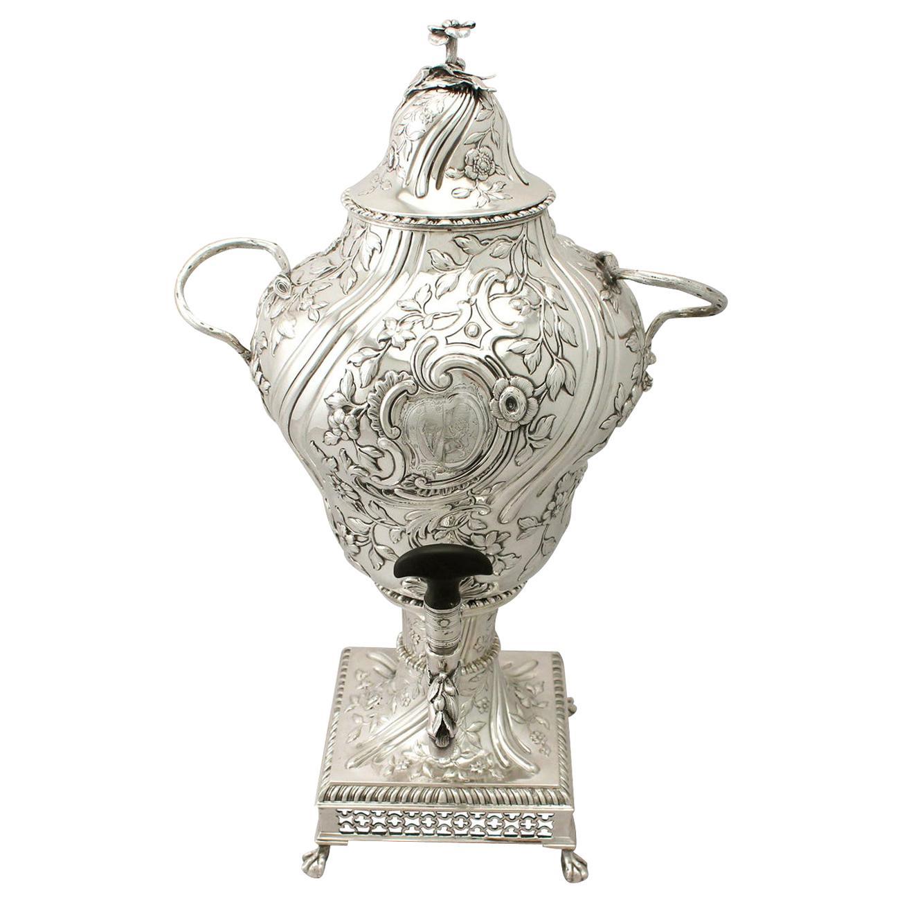 Antique George III Regency Style Sterling Silver Samovar