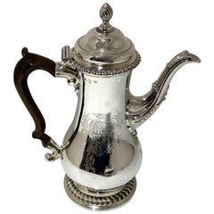Antique George III Silver Coffee Pot London 1763 Thomas Whipham & Charles Wright