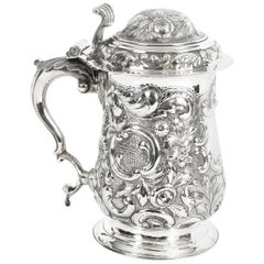 Antique George III Silver Tankard London by John King 1774, 18th Century
