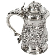 Antique George III Silver Tankard London by John Swift, 1763, 18th Century