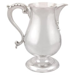 Antique George III Sterling Silver Beer/Water Jug by John King