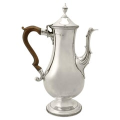 Antique George III Sterling Silver Coffee Pot by Hester Bateman