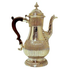 Antique George III Sterling Silver Coffee Pot London 1768 Charles Wright