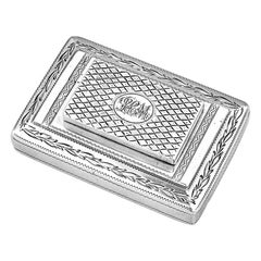 Antique George III Sterling Silver Combination Snuff Box and Vinaigrette