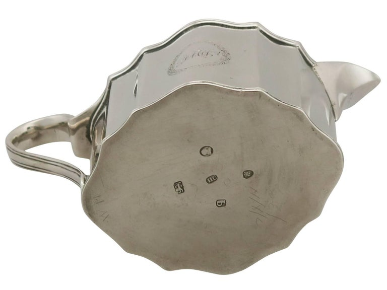 Antique George III Sterling Silver Cream Jug by Henry Chawner, 1791 For Sale 3