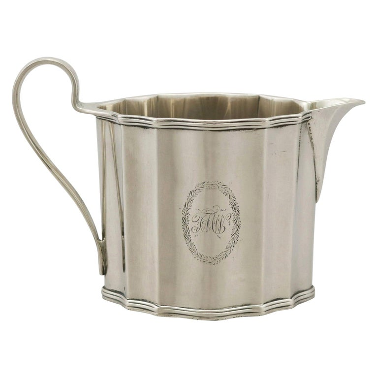 Antique George III Sterling Silver Cream Jug by Henry Chawner, 1791 For Sale