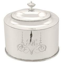Antique George III Sterling Silver Locking Tea Caddy by Hester Bateman