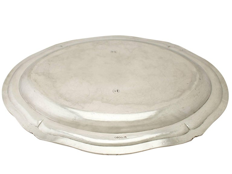 Antique George III Sterling Silver Meat Platter For Sale 3