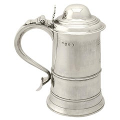 Antique George III Sterling Silver Pint and a Half Tankard