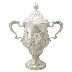 Antique George III Sterling Silver Presentation Cup and Cover