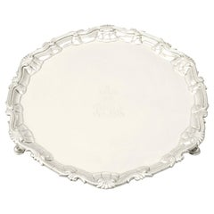 Antique George III Sterling Silver Salver by John Payne, 1785