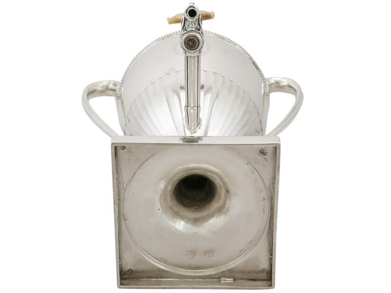 Antique George III Sterling Silver Samovar For Sale 9