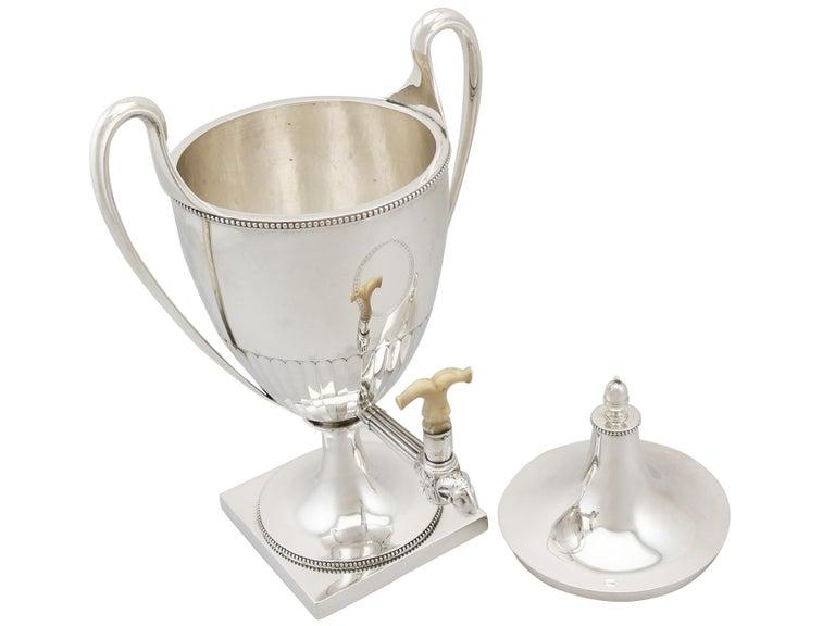 Antique George III Sterling Silver Samovar For Sale 2