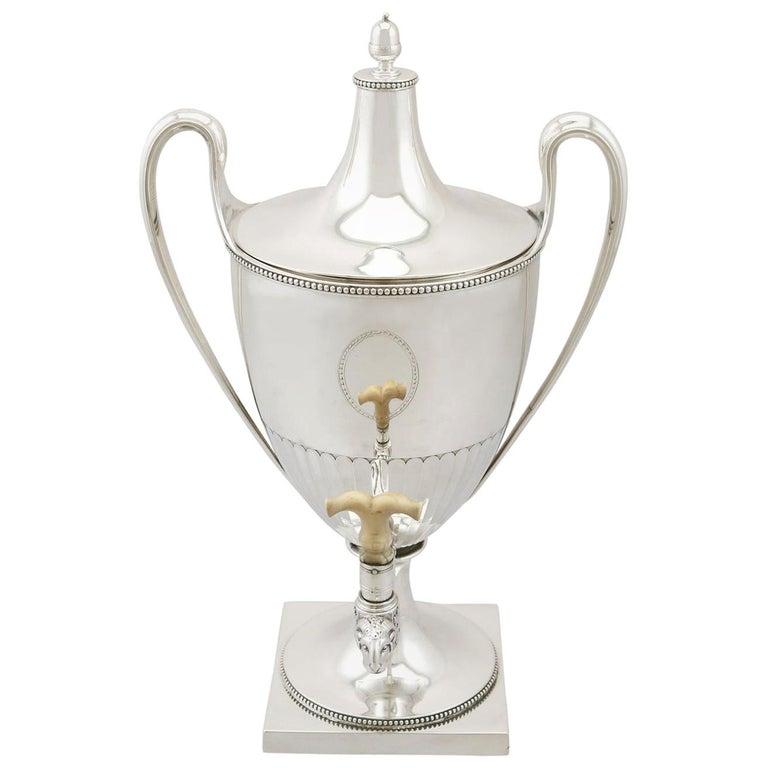 Antique George III Sterling Silver Samovar For Sale