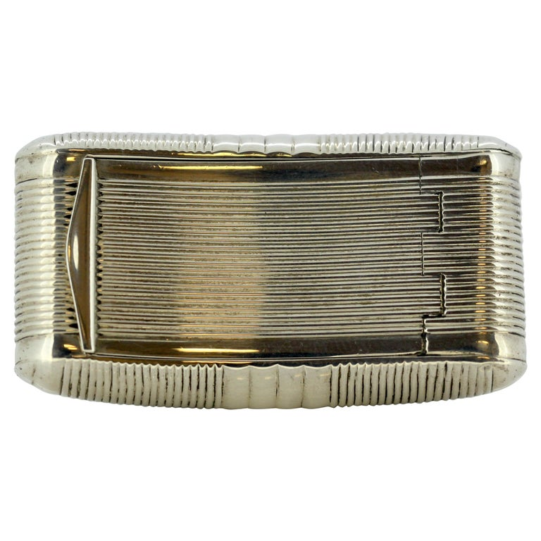 Antique George III Sterling Silver Snuff Box by William Pugh, Birmingham, 1811 For Sale