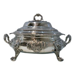 Antique George III Sterling Silver Soup Tureen London 1812 William Bennett